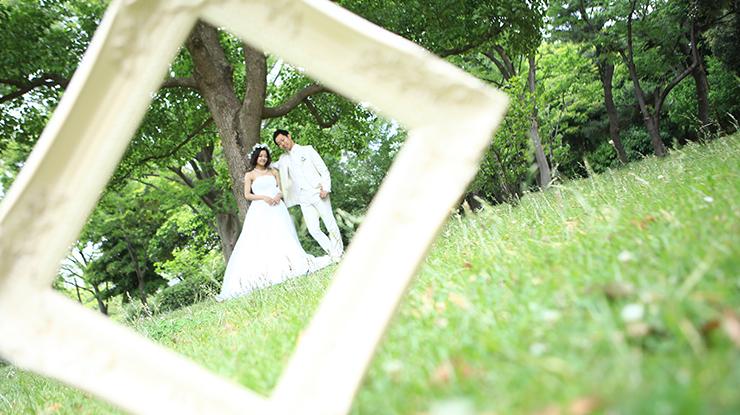 結婚写真 自由が丘